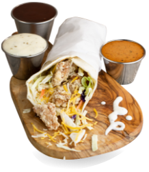 Burrito with Sides of Sauce