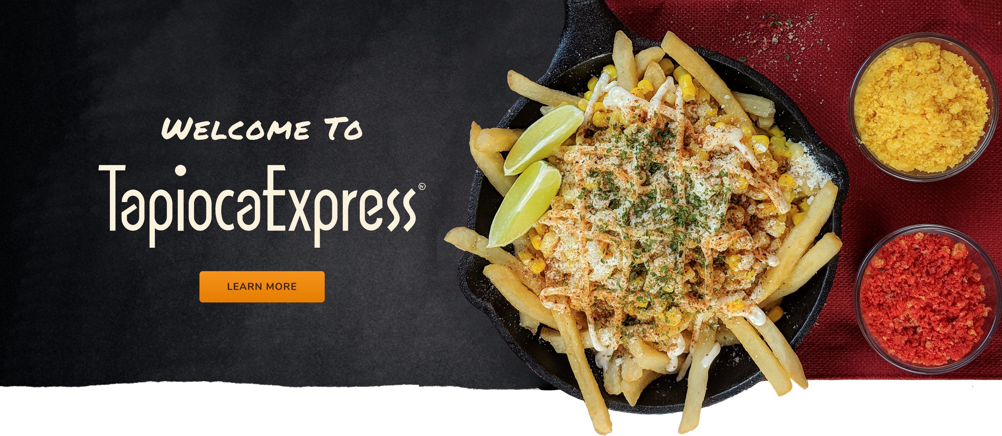 Tapioca Express Welcome Banner