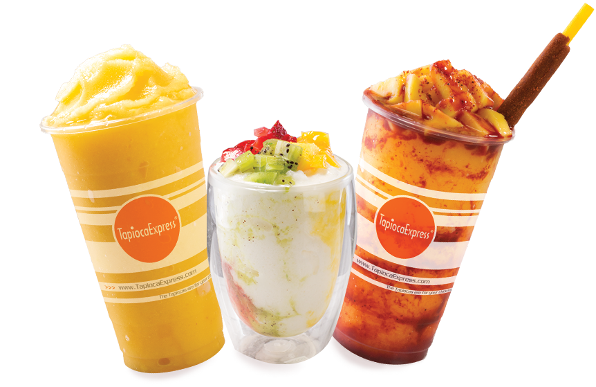 Three Tapioca Express Variety Drinks